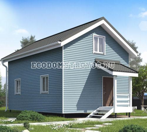 проект дома из сип панелей Техас вид 2