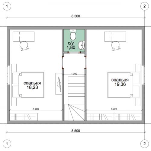 план второго этажа дома Техас
