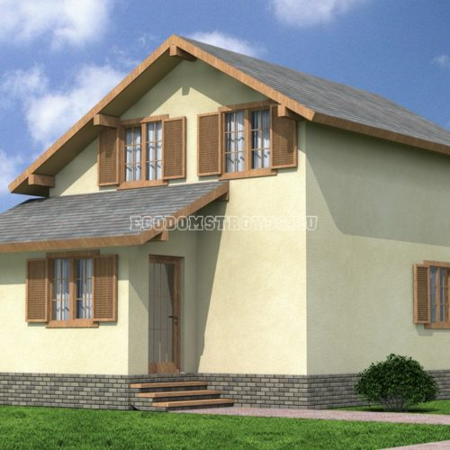 Проект дома из СИП панелей Виличка