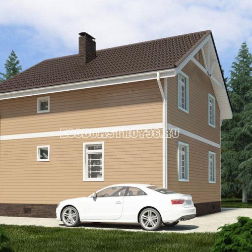 проект дома из сип панелей Волопас вид 2