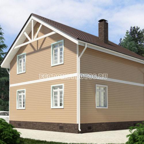 проект дома из сип панелей Волопас вид 3