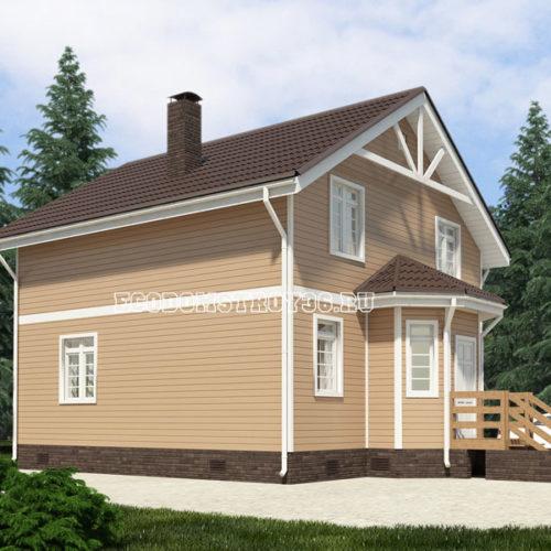 проект дома из сип панелей Волопас вид 4