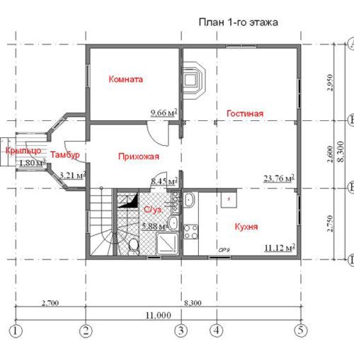 план первого этажа дома Волопас