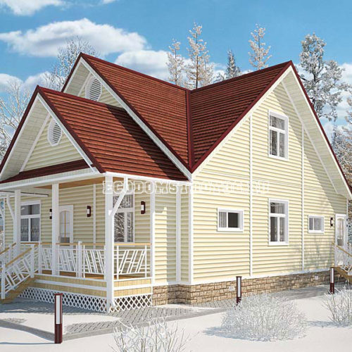 проект дома из сип панелей Босфор вид 2