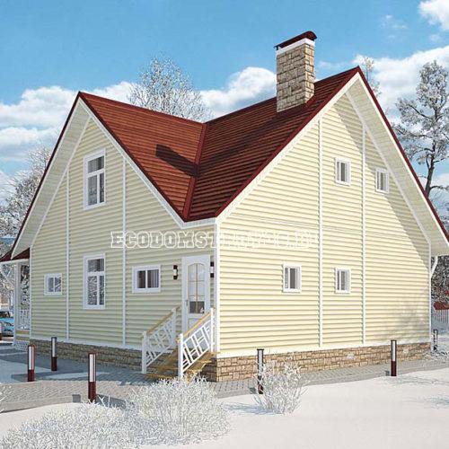 проект дома из сип панелей Босфор вид 3