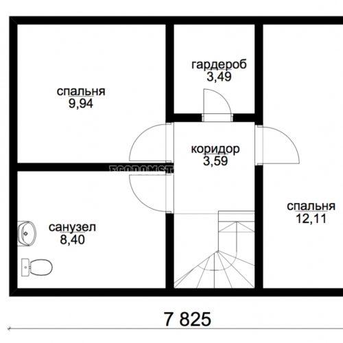 план второго этажа дома аргос