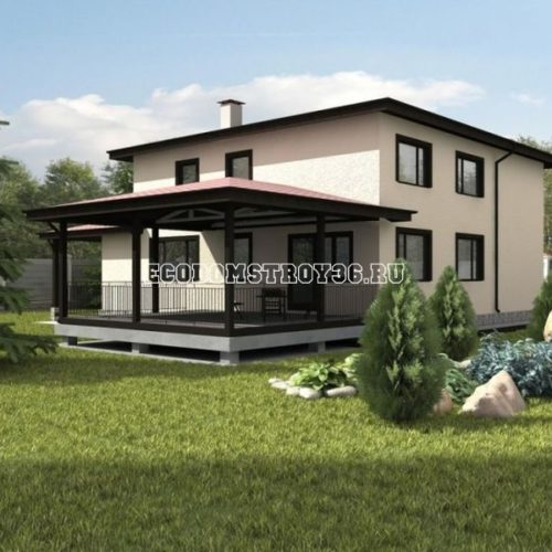 проект двухэтажного дома мемфис вид 2