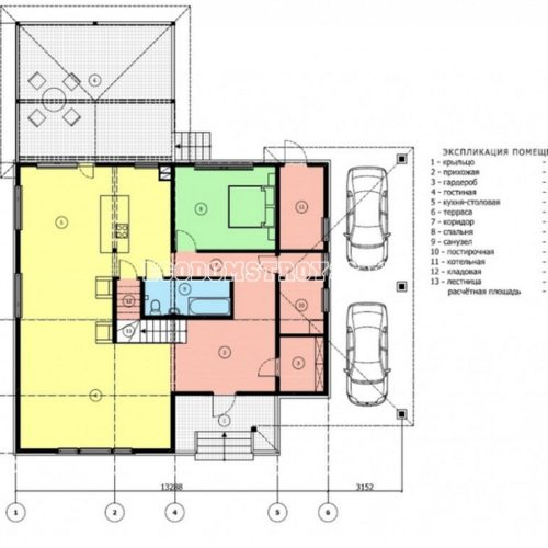 план 1 этажа двухэтажного дома мемфис