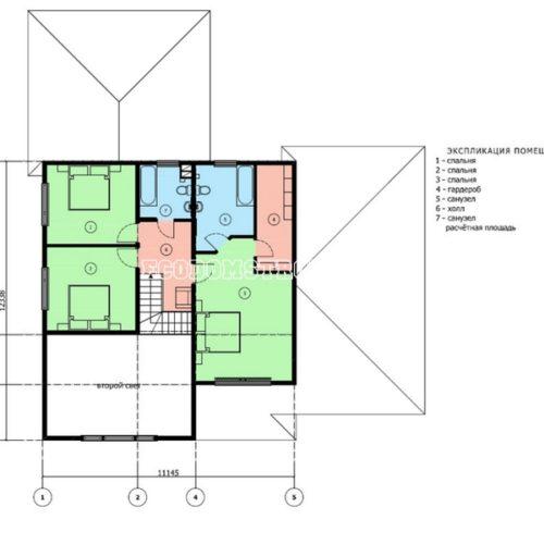 план 2 этажа двухэтажного дома мемфис