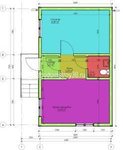Садовый дом из СИП панелей, план