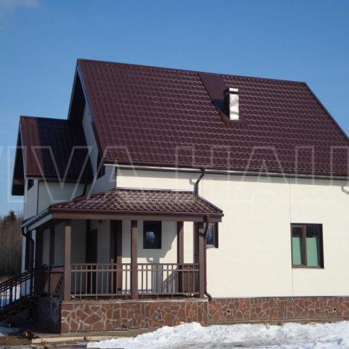 готовый дом из сип панелей по проекту велес