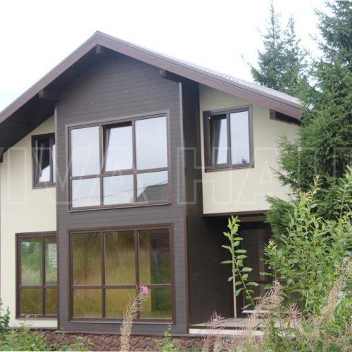 готовый дом из сип панелей по проекту легенда вид 2
