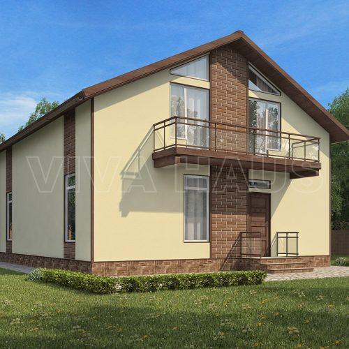 проект дома из сип панелей комильфо вид 2