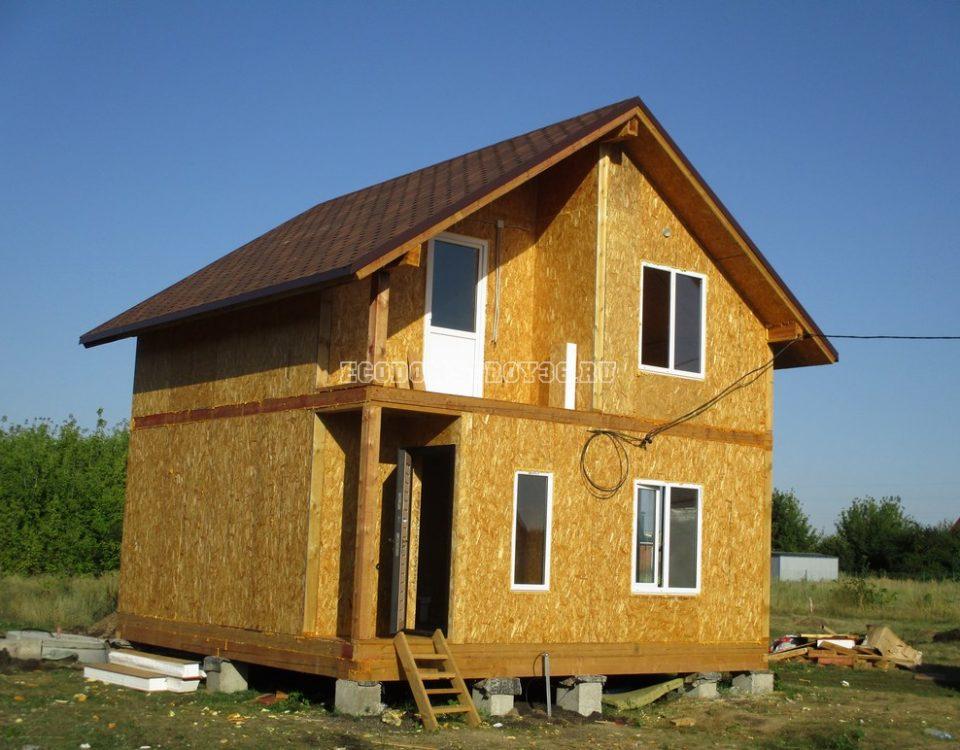 Дом в с. Латное из СИП панелей вид 2