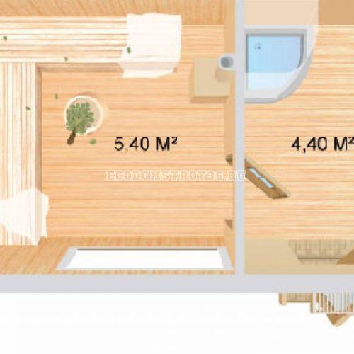 план небольшой бани