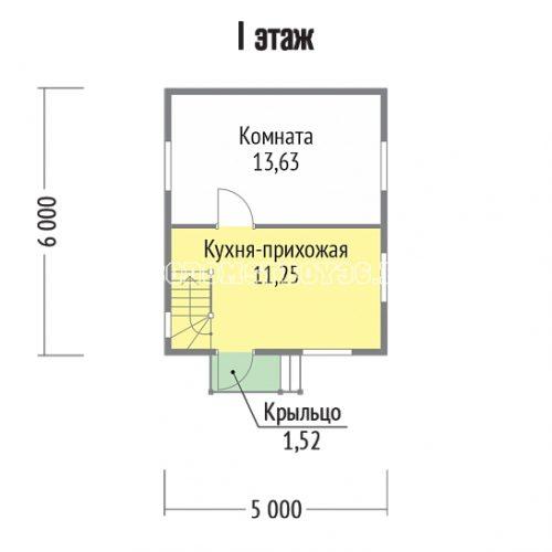 план 1 этажа дачи дд-1