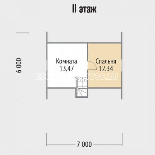 план 2 этажа дачи дд-12