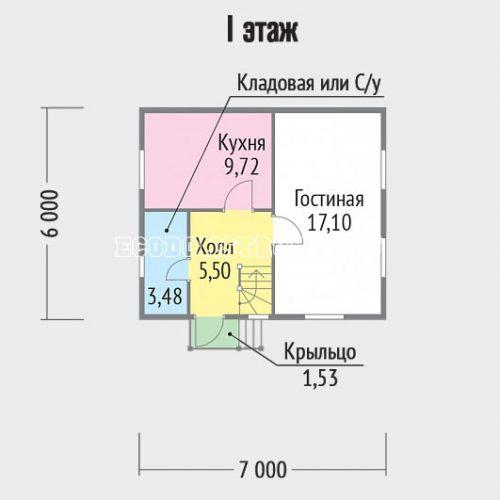 план 1 этажа дачи дд-12