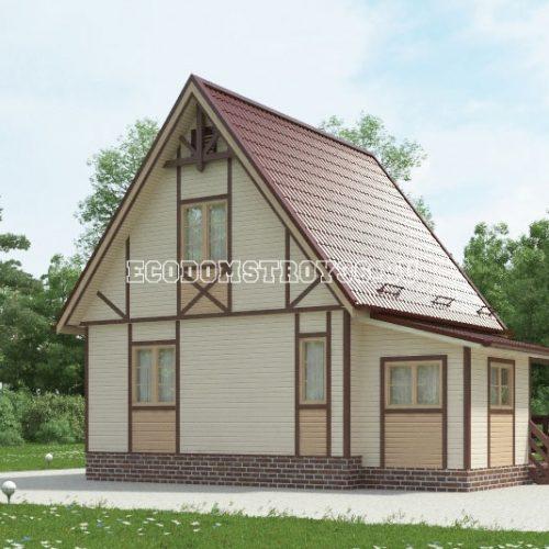 проект дачного дома дд-9 вид 2
