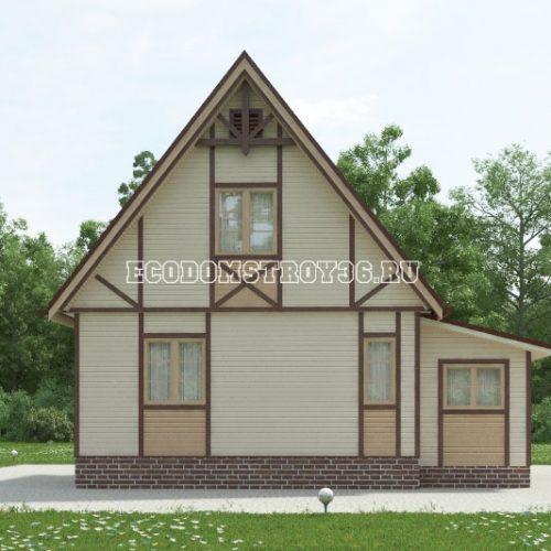 проект дачного дома дд-9 вид 3