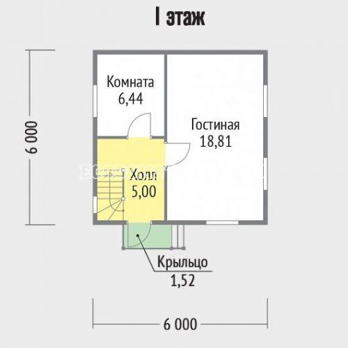 план 1 этажа дачного дома дд-9