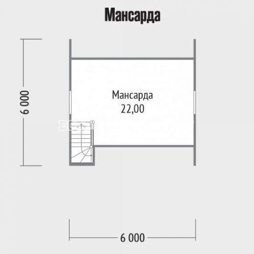 план мансарды дачного дома дд-9