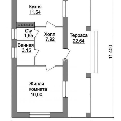 план садового дома дд-10