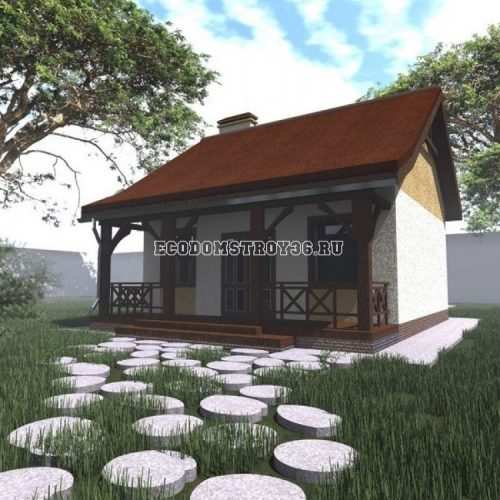 проект дачного дома из сип панелей дд-11