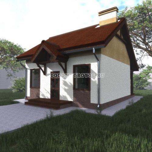 проект дачного дома из сип панелей дд-11 вид 2