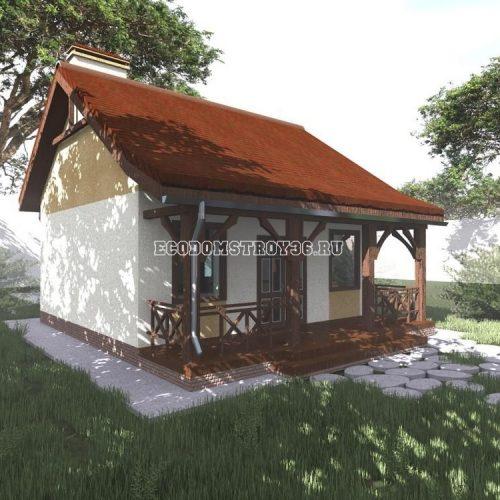 проект дачного дома из сип панелей дд-11 вид 3