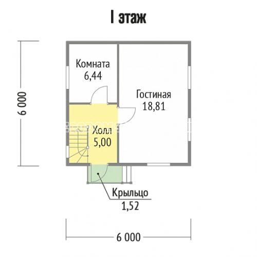 план 1 этажа дачи дд-2