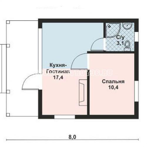 план небольшого дома дд-14