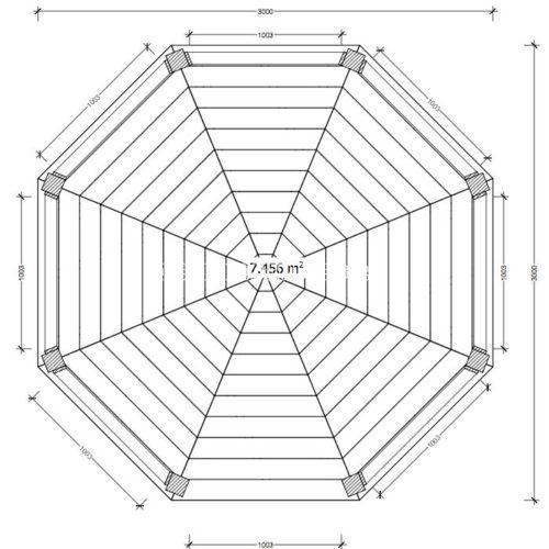 Восьмиугольная беседка план