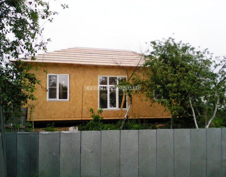 Строительство небольшого дома из СИП панелей 2